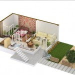 5 Marla Flat (home) 3D View of Khayaban e Amin Lahore