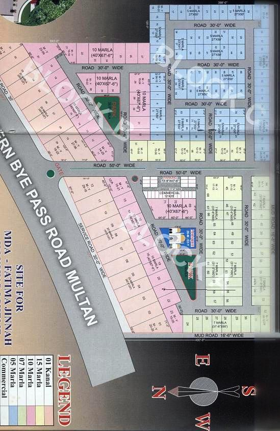 Grace Garden Housing Scheme Multan (Drawing Map)