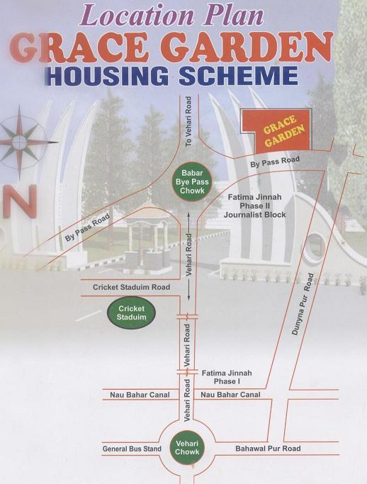 Grace Garden Housing Scheme Multan (Location Plan)