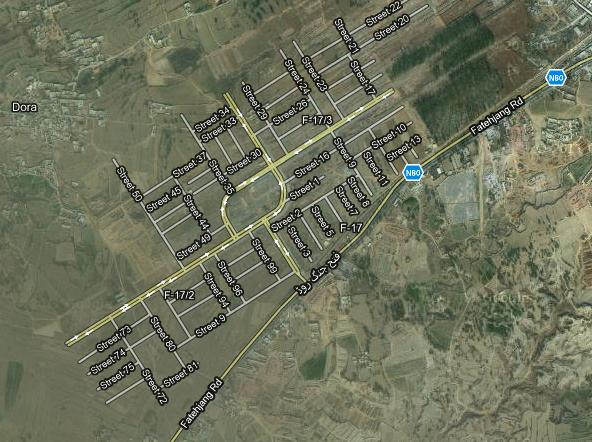 Satellite Map T&T Housing F-17 Sector Islamabad