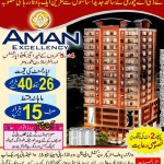 Aman Excellency Karachi - 4 & 5 Rooms Apartments & Showrooms