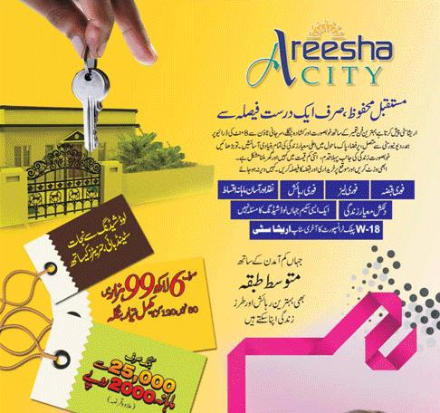 Areesha City Karachi – a low cost housing scheme