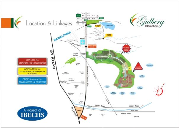 Gulberg Islamabad - Location Map