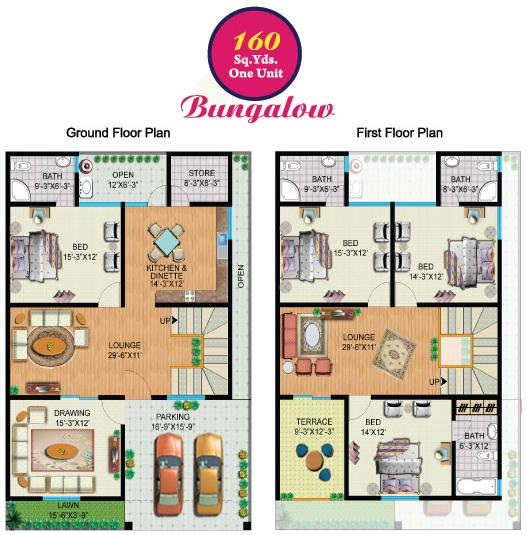 160 Sq Yards (One Unit) Bungalow