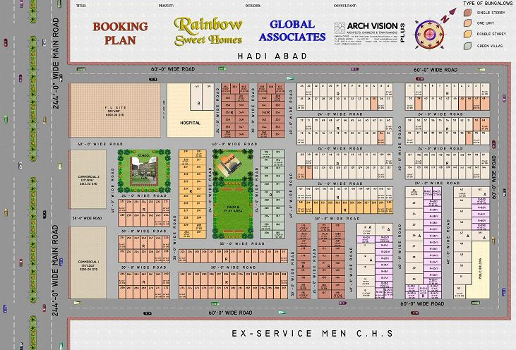 Rainbow Sweet Homes – Detail Layout or Drawing Map – Booking Plan