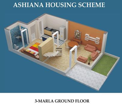 Ashiana Housing, 2 & 3 Marla Houses – Layout Plans or Drawing Maps