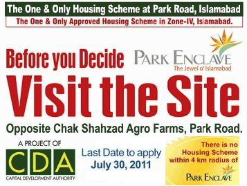 Park Enclave Housing – Overseas Pakistanis Application Form