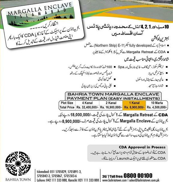 New City Islamabad: Margalla Enclave Of Bahria Town Islamabad