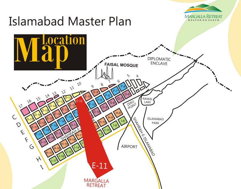 Margalla Retreat Islamabad – Location Plan/Map