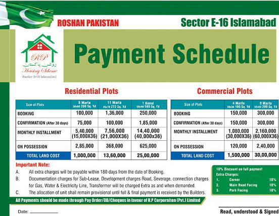 Roshan Pakistan Housing Islamabad Payment Plan Fjtown
