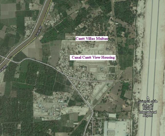 Cantt Villas Multan – Satellite & Location Maps