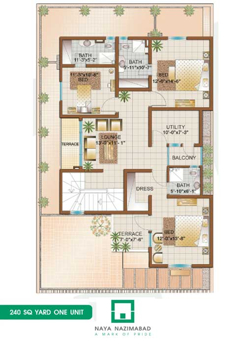 Bungalow 240 sq yards e Unit First Floor