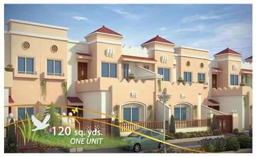 Front Elevation 120 Yards : Pin bungalow sq yards double story ground floor on