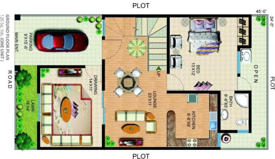 Chapal uptown karachi payment plan floor plan layout for 120 square yards floor plan