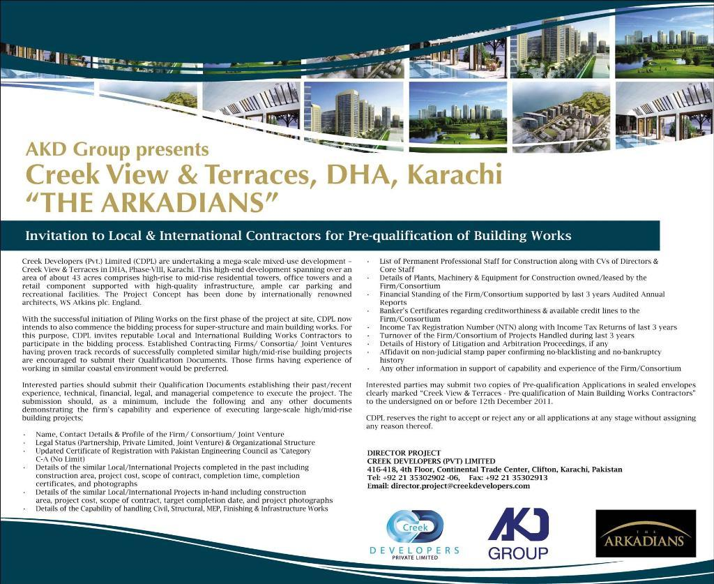 Creek View and Terraces DHA Karachi – The Arkadians