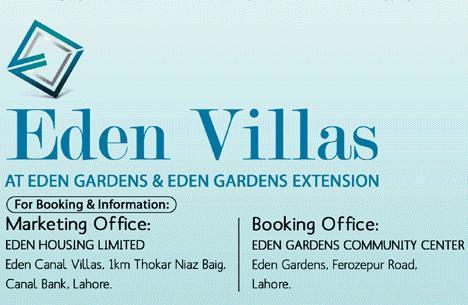 Eden Villas Lahore – Payment Plan