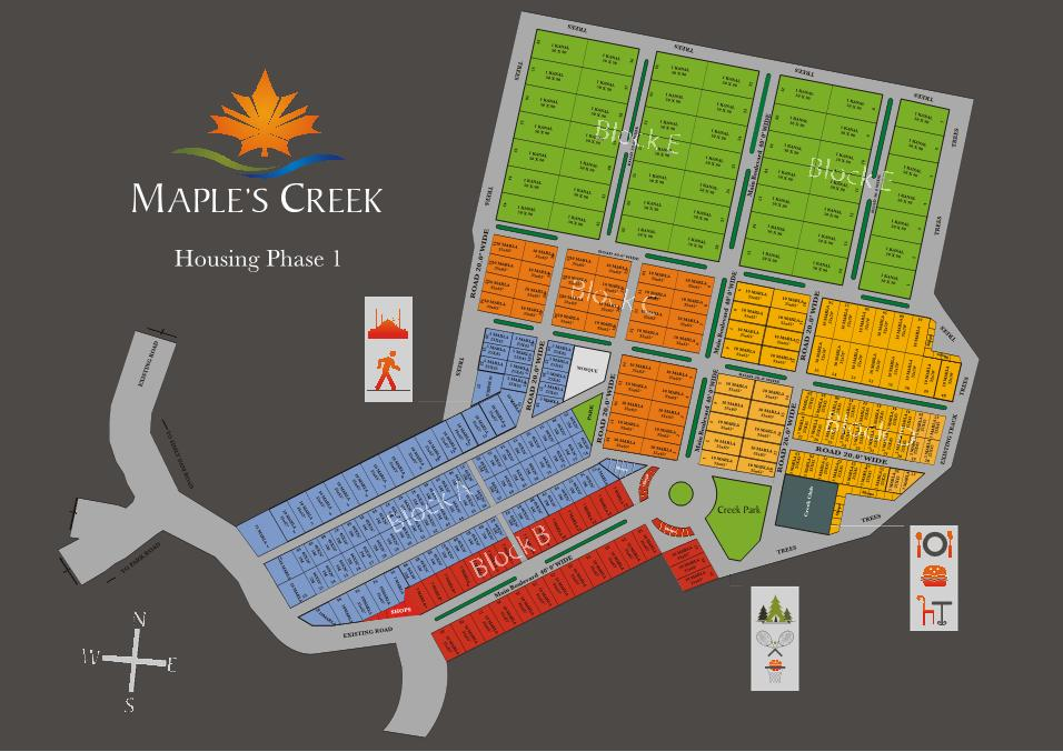 Maples Creek Housing Islamabad – Layout Plan or Master Plan (Large ...