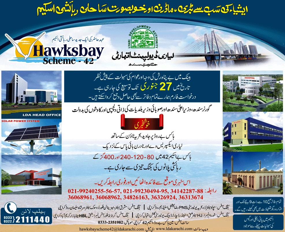 Hawksbay Scheme 42 Application Date Again Extended till January 27, 2012
