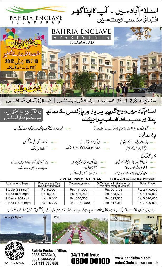 Bahria Enclave Apartments Islamabad