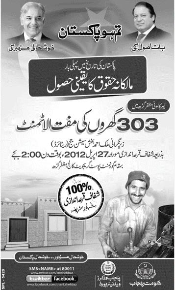 Labour Colony Muzaffargarh Balloting for Houses / Quarters