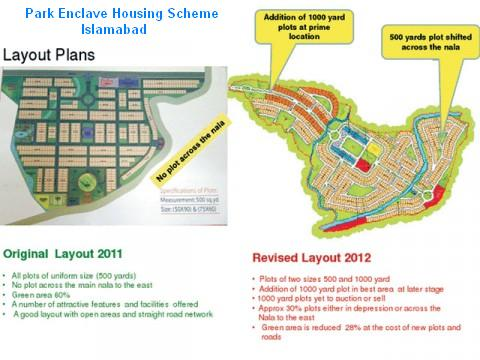 CDA alters Park Enclave Housing Scheme Layout Plan