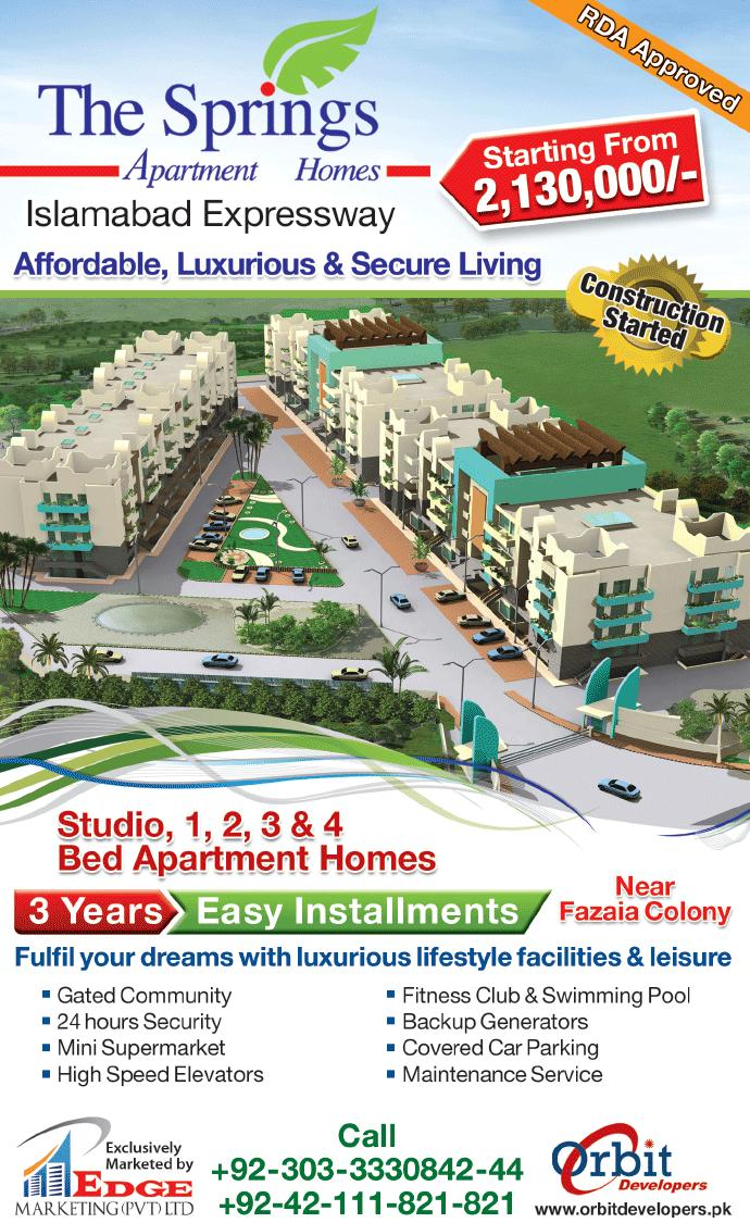 The Springs Apartment Homes Islamabad Expressway
