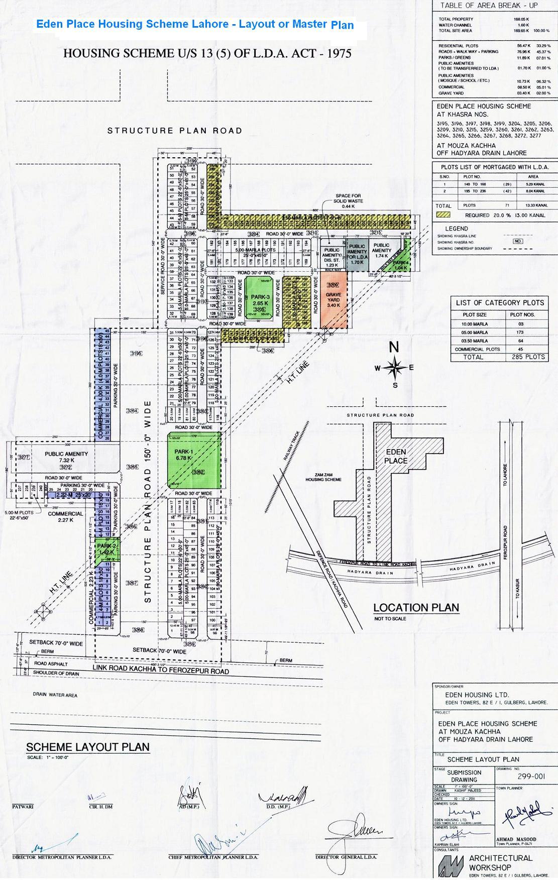 100 jinnah garden house plan drawings bahria farm houses for Gardening tools karachi