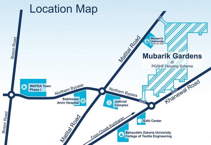Mubarik Gardens at PGSHF (Punjab Govt Servants Housing Foundation) Multan