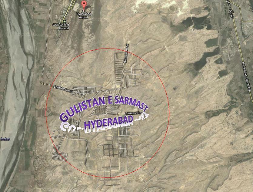 Gulistan e Sarmast Housing Scheme Hyderabad Satellite Map – fjtown