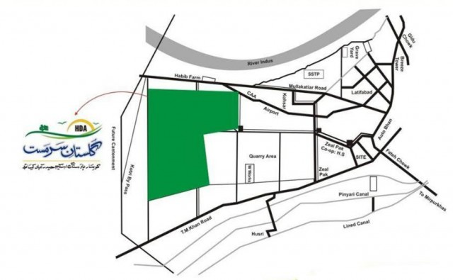 Gulshan i Sarmast Housing Scheme Hyderabad Location Plan