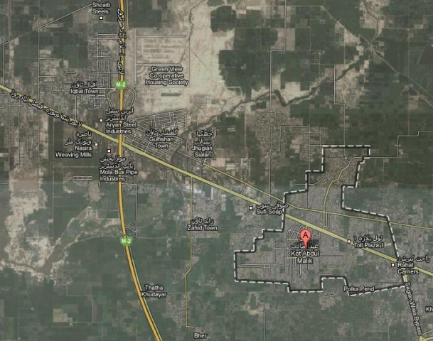 Salar Villas Sheikhupura Road Lahore - Location Map