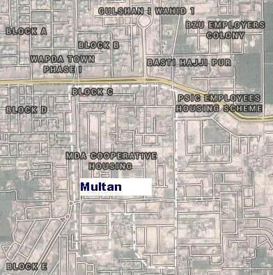 Satellite Map MDA Officer Housing Society Multan