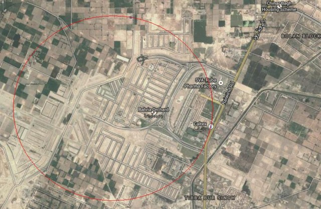 Bahria Orchard Housing Scheme Raiwind Road Lahore Location Satellite Map