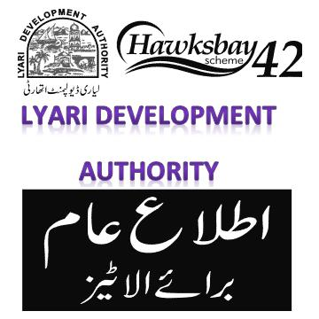 Notice to allottees of Hawksbay Scheme 42 of Lyari Development Authority Karachi