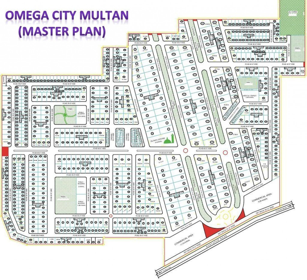 Omega City Multan Master plan