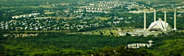 Islamabad city bird view pic
