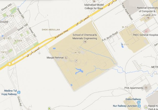 Location Map Sector I12 Islamabad (Apartment for Grade 17-19 employees)