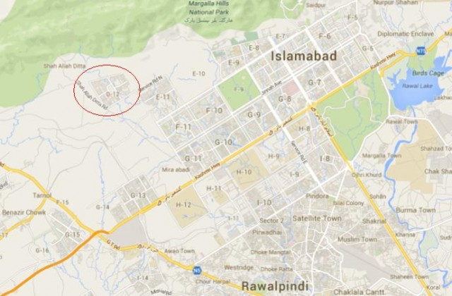 Sector D12 Islamabad Location Map