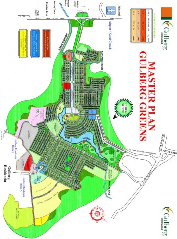 Gulberg Greens Islamabad - Master Plan and Location Map