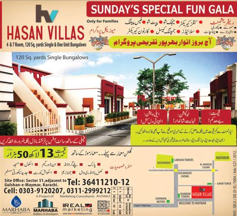 Hassan Villas Housing Scheme Karachi