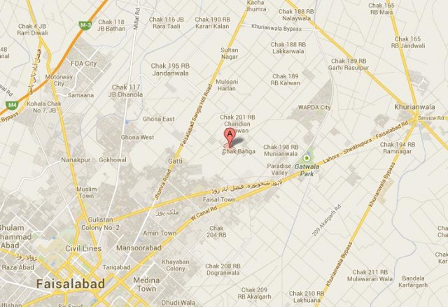Location Map WAPDA Town Faisalabad