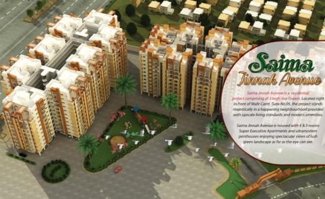 Saima Jinnah Avenue Karachi - Residential Apartments
