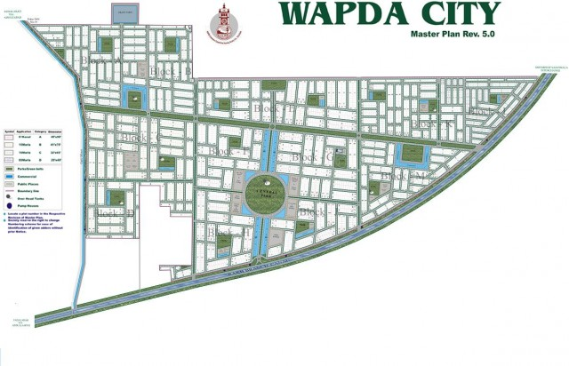 WAPDA City Phase 1 Faisalabad - Master Plan