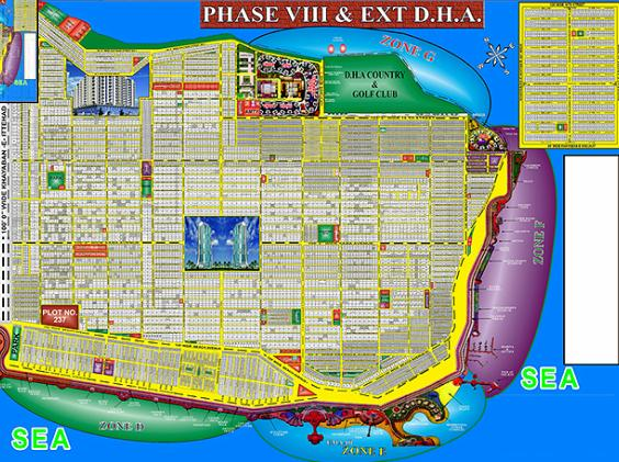 Map DHA Phase VIII Karachi