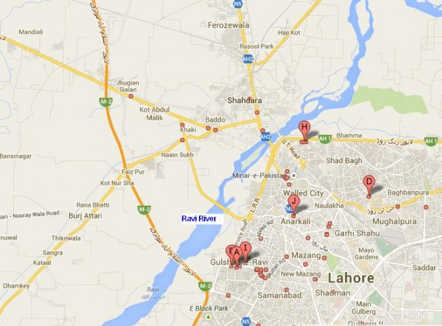 Ravi River City Lahore - Location Map