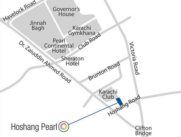 Bahria Town Hoshang Pearl Karachi Apartments Location Map