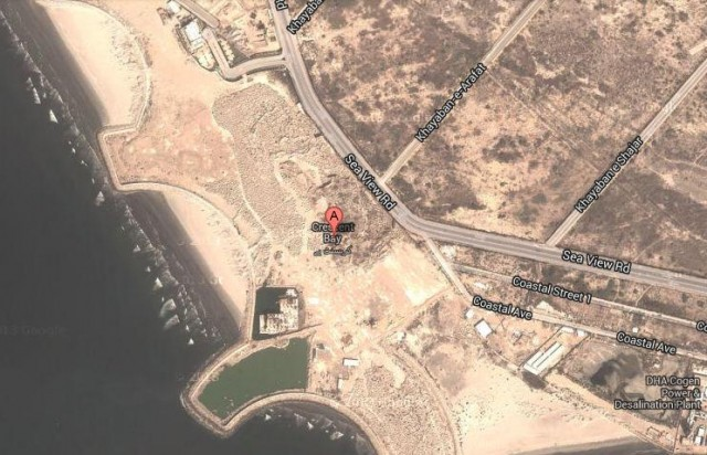 Crescent Bay Karachi Satellite Map View