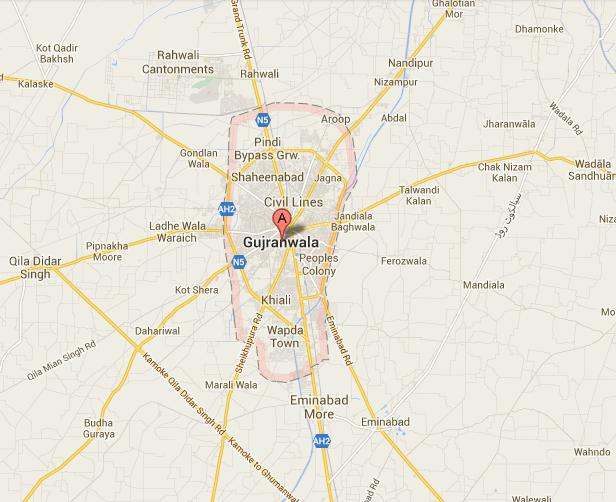 Gujranwala City Map