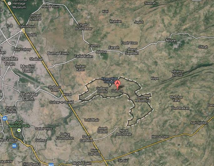 Gulberg Green Residentia Satellite Location Map Real Estate - Satellite location map