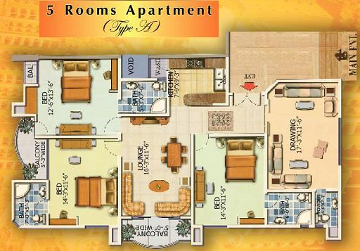 Type A Apartment - Layout Plan